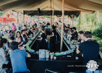 10x27,5 m. stretchtent voor Sushi Festival Joy 2017