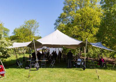 10x15m zilvergrijs - Bevrijdingsfestival Wageningen