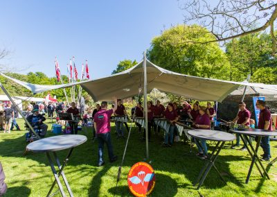 6x8m zilvergrijs - Bevrijdingsfestival Wageningen